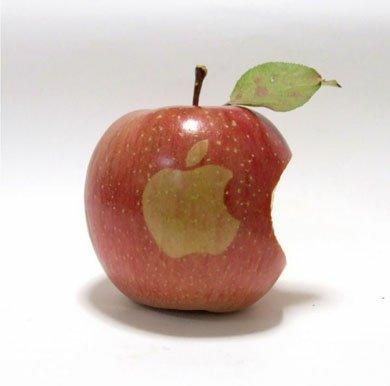 Логотип на яблоках